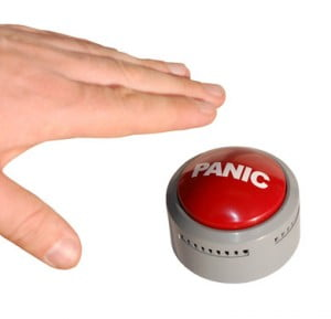 no need to hit the panic button